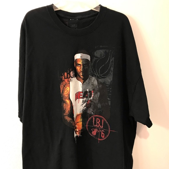 check out 270ec ba582 Vintage Lebron James Miami Heat NBA T Shirt
